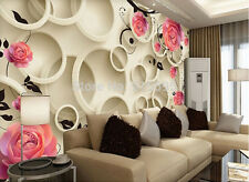 3D Wallpaper Bedroom Living Mural Roll Modern Pink Rose Flower Wall Background