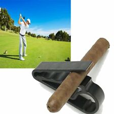 Golf Cigar Holder Cart Boat Minder Grip Clip Clamp Golf Club Accessories