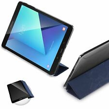 For Samsung Galaxy Tab S3 9.7 POETIC Case Slimline Series PU Leather Cover Blue