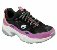 Casual Skechers Black Shoe Women Sport Comfort Memory Foam Athletic Train 149045