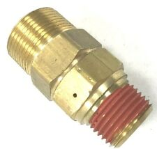 "AIR COMPRESSOR UNLOADER CHECK VALVE 3/4"" X 3/4"" MPT BRASS"