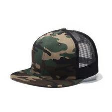 Womens Mens Mesh Snapback Hat Original Fit Trucker Cap Blank Flat Brim Hats L2