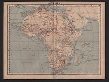 Landkarte map 1885: AFRIKA. Africa Sudan
