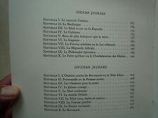 1948 LE DECAMERON DE JEAN BOCCACE CHEZ LA BELLE EDITION PARIS ILLU RAOUL SERRES
