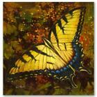 """Simon Bull HAND SIGNED Limited Edition Butterfly """"Nectar"""" Canvas UK/US artist"""