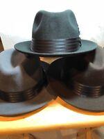 New with Tag Dobbs MAIN STREET Fedora GLEN COVE Men's  wool Hat Brim 21/8''