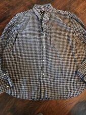 Polo Ralph Lauren Blue Plaid Button Up Shirt, Size XL