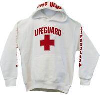 Lifeguard Hoodie Kids Life Guard Sweatshirt White XS