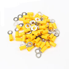 40PCS RV5.5-6 Yellow Ring Cable Wire Connector terminal block