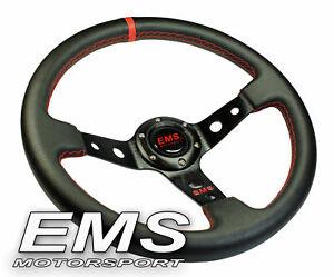 EMS Motorsport Lenkrad Sportlenkrad Rallyelenkrad 350mm / 65mm   --L65r