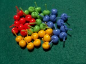 Hi Ho Cherry O Replacement Fruit 40 cherries - red, blue , green and yellow
