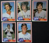 1981 Topps Traded Boston Red Sox Team Set of 5 Baseball Cards