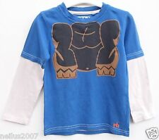Boys Red Herring Blue & Brown Long Sleeve T-Shirt Top Age 6