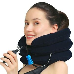 Cervical Neck Traction Device & Collar Brace neck support travel pillow