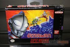 Ultraman (Super Nintendo, SNES 1991) FACTORY H-SEAM SEALED! - RARE!