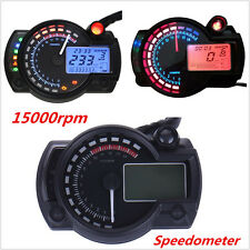 15000rpm LCD Digital Dual Color Speedometer Tachometer Odometer Gauge
