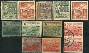 Germany SAXONY PROVINCE Postage Semi-Postal Stamps Collection 1945-46 Mint Used
