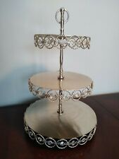3-TIER CUPCAKE STAND Metal Crystal Dessert Wedding Party Event Display Tower