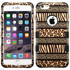 Tuff HYBRID Hard Case Cover Zebra Cheetah Leopard Apple iPhone 6 Plus 6s PLUS