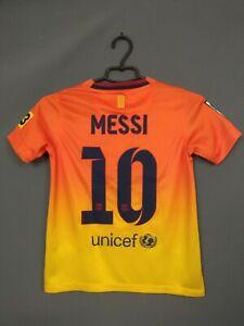 Messi Barcelona Shirt 2012 2013 Away Kids Boys 8-10 y Jersey Camiseta Nike ig93