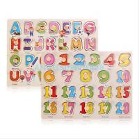 Kinder Baby Früh Lernen Bildungs Buchstaben Zahlen Puzzle Entwicklung Spielzeug