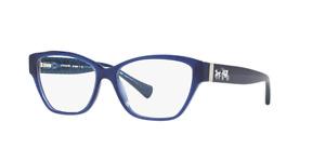 NEW AUTHENTIC COACH HC6088F 5397 Milky Navy/Milky Navy Sig C Eyeglasses 54mm