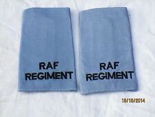 Royal Air Force, RAF REGIMENT, schwarz auf hellblau