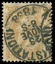 Scott # 58 - 1886 - ' King Leopold Ii ' Yellowish paper