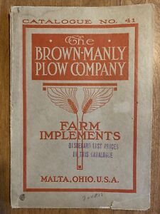 Brown-Manly Plow Company Horse-Drawn Farm Implements Tools Catalog With Inserts