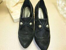 BCBG Generation Women's Pointy Toe High heel Suede Platform Pump Shoe Black 10