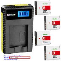 Kastar Battery LCD Charger for Sony NP-BG1 NP-FG1 Typr G BC-CSG BC-CSGD BC-CSGE