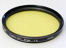 (PRL) TAMRON 67 mm Y2 FILTRO FILTER FILTRE FILTAR PHOTO FOTOGRAFIA B/N B/W