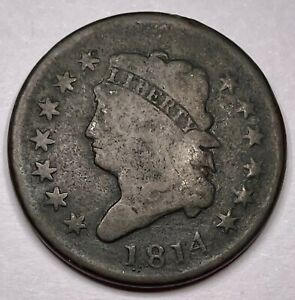 1814 USA Liberty Turban Head Large Cent