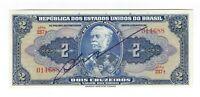 2 Cruzeiros Brasilien UNC 1944 C014 / P.133 - Brazil Banknote