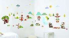 Kids Wall Art Stickers 🐴 Rumble Ranch Boys Bedroom Nursery Playroom ⛺️