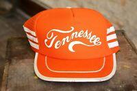 Vintage TENNESSEE Snapback trucker hat cap Street Wear Outdoorsman orange stripe