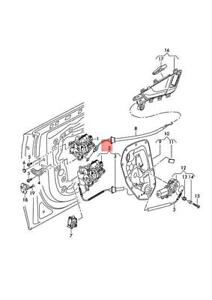 Genuine AUDI Q7 4MB 4MG Door Lock 4M0839015L