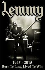 OFFICIAL LICENSED - LEMMY - LIVED TO WIN TEXTILE POSTER FLAG METAL MOTORHEAD