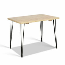 Artiss PIPE-TABLE-NT 6 Seater Wooden Dining Table