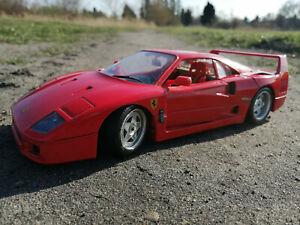Modelauto Bburago Ferrari F40 1:18 rot 1987