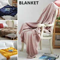 Flannel Fleece Throw Blanket Super Soft Fluffy Warm Bed Throws Living Room Sofa