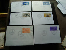FRANCE - 6 enveloppes 1984 1985 1987 1998 2001 (cy46) french