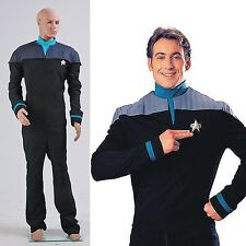 Star Trek Adult halloween costumes Next Generation Deanna Troi Jumpsuit Uniform