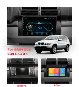 For BMW E39 E53 E38 X5 Car Stereo Radio 9'' Android 9.1 HD GPS Player w/ Canbus