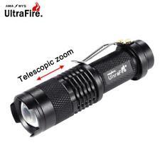 Ultrafire 3500 LM  Q5 14500 AA 3mode ZOOM LED Flashlight MINI Torch Black PK