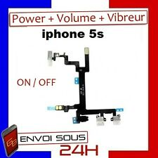 NAPPE BOUTON POWER ON/OFF + VOLUME + VIBREUR POUR IPHONE 5S
