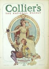 Antique Collier's Original National Weekly Magazine Canadian Gold Fields 1910