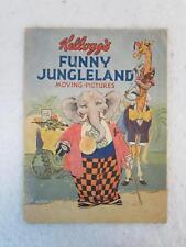 KELLOGG'S FUNNY JUNGLELAND MOVING-PICTURES 1932 Kellogg's Battle Creek, MI