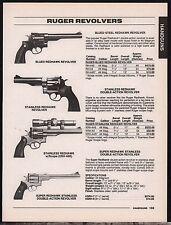 1996 Ruger Blued, Stainless & Super Redhawk Revolver Ad