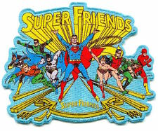SUPER FRIENDS Justice League IRON-ON PATCH Superman Batman The Flash DC Comics